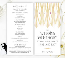 Gatsby wedding programs # 0.41