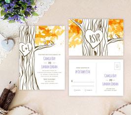 Tree themed wedding invitations # 91.2
