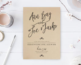 Calligraphy wedding invitations # 112.1