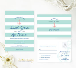 Anchor wedding invitations # 52.2