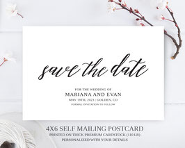 Classic save the date postcards