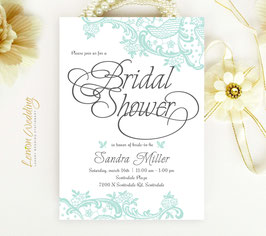 Lace wedding shower invitations # 0.22
