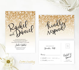 Gold and black wedding invitations # 62.2