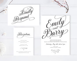 Classic wedding invitations # 109.3