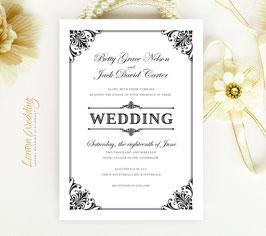 Classic wedding invitations # 69.1