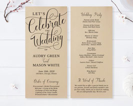 Calligraphy wedding programs # 0.52