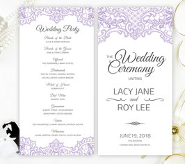 Purple wedding ceremony programs # 0.13