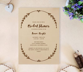 Rustic wedding shower invitations # 0.63