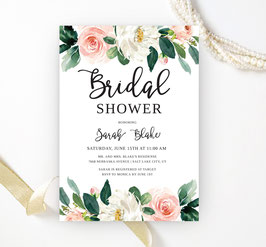 Flowers bridal shower invitations - 1