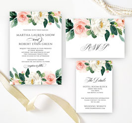 Floral wedding invitations packs # 3