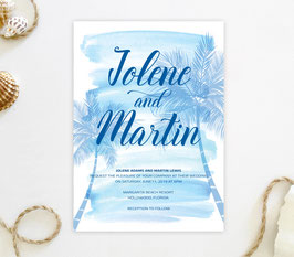 Tropical wedding invitations # 85.1