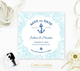 Nautical save the date cards # 0.39