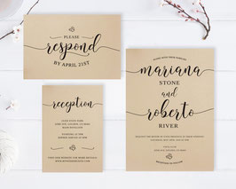 Elegant Wedding Invitation Sets # 122.3