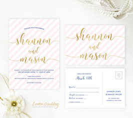 Striped wedding invitations # 82.2