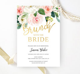 Flower bridal shower invitations - 3