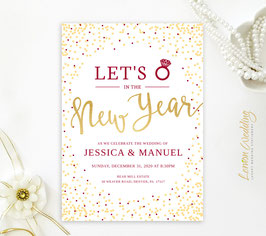 New Year's Eve Wedding invitation cards # 121.1
