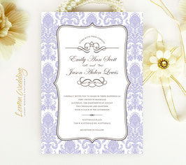 Damask Wedding Invitation # 28.1