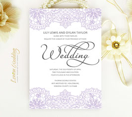 Lilac wedding invitations # 38.1