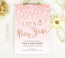 New Year's Eve Wedding invitation cards # 122.1