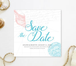 Seashell save the date cards # 0.65
