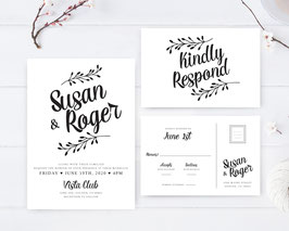 Black and white wedding invites # 110.2