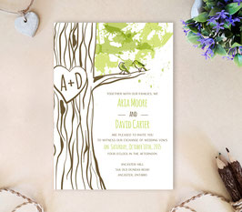 Love bird wedding invitation # 50.1