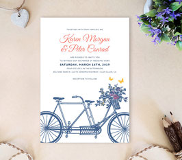 Bicycle wedding invitation # 25.1