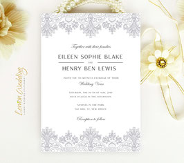 Vintage lace wedding invitations # 33.1