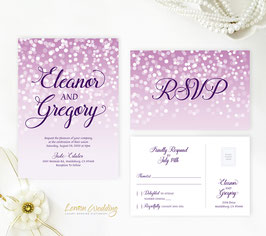 Purple wedding invites # 117.2