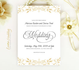 Traditional wedding invitation # 66.1