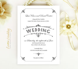 Simple wedding invitation # 27.1