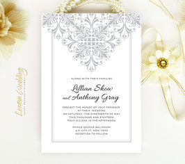 Silver wedding invitations # 48.1
