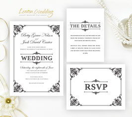 Formal wedding invitation sets # 69.3