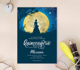 Moon Quinceanera Invitations