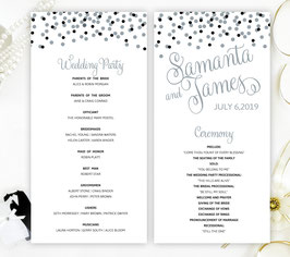 Silver and black wedding programs # 0.16