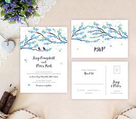 Love bird wedding invitations # 95.2
