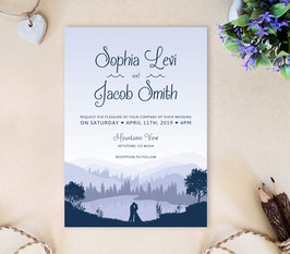 Mountain wedding invitations # 20.1