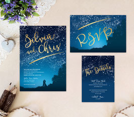 Starry night wedding invitation sets # 75.3