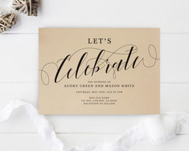Let's Celebrate Wedding Invitation