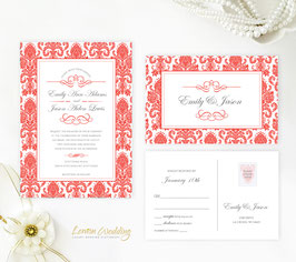 Red wedding invitation # 107.2