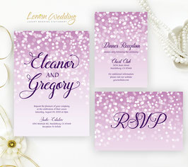 Purple wedding invitation kits  # 117.3