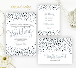Black and Grey Wedding Invitations # 29.3