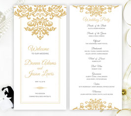 Lace wedding programs # 0.40