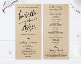 Kraft paper wedding programs # 0.51