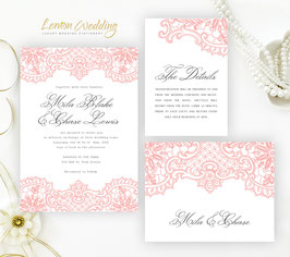 Lace wedding invitations # 56.3