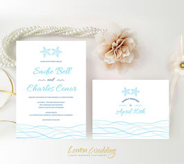 Starfish wedding invitations # 59.2