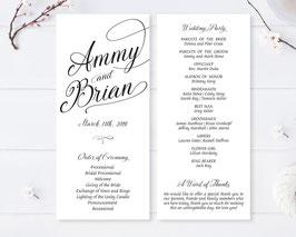 Simple wedding ceremony programs # 0.47