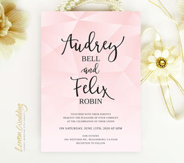 Geometric wedding invitations # 101.1