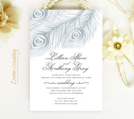 Peacock wedding invitations # 45.1