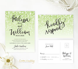 Green wedding invites # 116.2